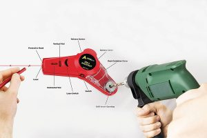 AdirPro Drill Buddy Cordless Dust Collector with Laser Level
