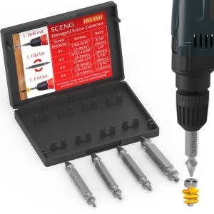 SCENG Stripped Screw Extractor Set