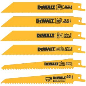 DEWALT Metal/Woodcutting Reciprocating Saw Blade Set